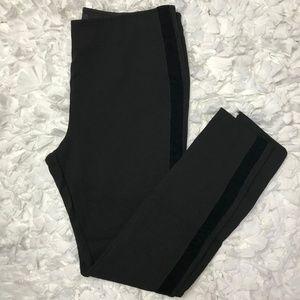 Simply Vera Wang Black Pants With Velvet Strip